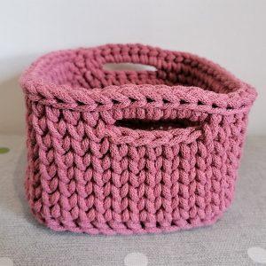 """Kwadratowy koszyk ze sznurka """"Rosie"""" mini"""