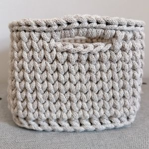 """Kwadratowy koszyk ze sznurka """"Cappuccino"""" mini"""