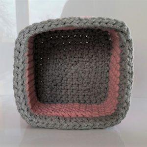 """Kwadratowy koszyk ze sznurka """"Princess"""" 2 mini"""