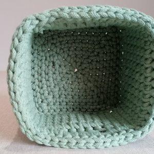 """Kwadratowy koszyk ze sznurka """"Green"""" mini"""
