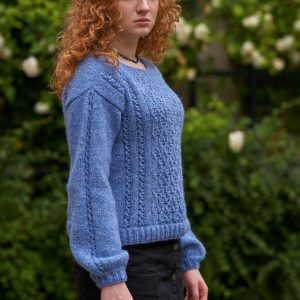 Lekki wełniany sweter z ażurami COMFY DREAMER